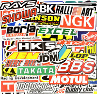 100 Rally Stickers Pack Car Motorcycle Racing Motocross Decals ATV Helmet Bike