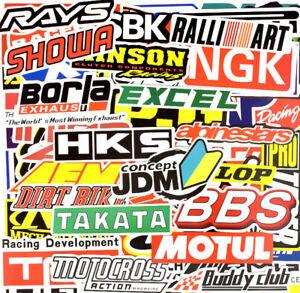 100 Rally Sticker Pack Car Motorcycle Racing Motocross Decal ATV Helmet Bike BMX