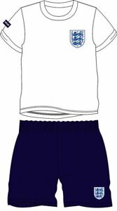 New Boys 100% Cotton 'England' Football Shortie Pyjama Set