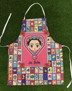 Frida Kahlo Mandil Para Mujer Unitalla Apron For Women One Size