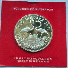 Bahamas 1971 Flamingo 2 Dollars Silver Coin,Proof