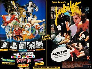 "THE GREAT ROCK N ROLL SWINDLE / JUBILEE dbl bill quad poster 30x40"" Sex Pistols"