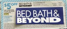 (5) Bed Bath and Beyond $5 Off $15 Purchase Coupons