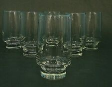 6 MiD CENTURY CLEAR STREAMLiNE ATOMiC LOW FOOTED 12oz COCKTAiL GLASSES TUMBLER