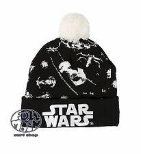 New Star Wars Tie Fighter  Embroidered Knit Cap Winter Hat Pom Beanie