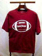 T-Shirt Men's Football Captain Morgan Maroon Short Sleeve XL New Old Stock