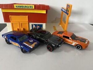 Hot Wheels '69 Dodge Charger, '70 Dodge Charger '68 Shelby GT500 Vintage Lot