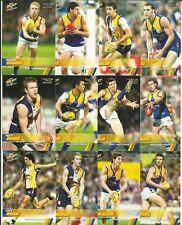 2008 AFL SELECT CHAMPIONS WEST COAST EAGLES COMMON TEAM SET 12 CARDS