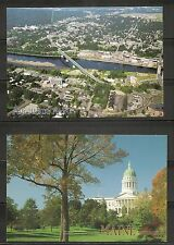 USA, Maine. Augusta . Four Different views on postcards, unposted.
