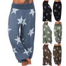 Womens Baggy Harem Trousers Pants Loose Yoga Ali Baba Gypsy Leggings Plus Size
