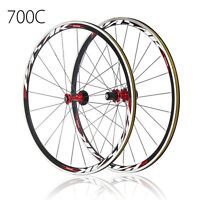 Ultra Light Sealed Bearing 700C Road Bicycle Wheels Wheelset 30mm Rims Bike C/V