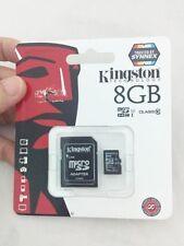 Kingston 8GB Tarjeta de memoria clase 10 Micro SD C10 SDHC TF + Adaptador para cámara de teléfono
