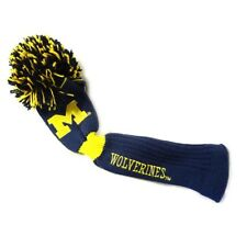 NEW Team Golf Driver Head Cover Pom Pom NCAA University of Michigan Wolverines