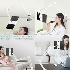 Flexible ipad bed desk Stand holder mount -Tablet iPhone IPAD/iPAD Pro 12.9-Whi