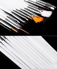 15x Nail Art UV GEL Design Brush Set Painting Pen Manicure Tips Tools Sus