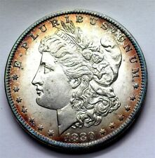 1880-O MORGAN SILVER DOLLAR NEAR GEM UNC BETTER DATE! NICE COLOR RARE THIS NICE!