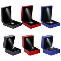 LED Jewelry Box Earring Ring Pendant Necklace Storage Case Display Box Organizer