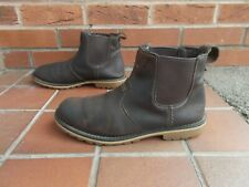 TIMBERLAND Brown Leather Chelsea Boots * sz 9 uk * PULL ON