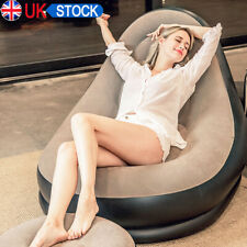 UK Large Gaming Inflatable Lounger Chair Adult Bean Bag Indoor Giant Sofa Couch