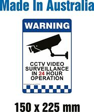 CCTV Video Surveillance In 24hour Operation - Rigid PLASTIC Sign. 150 x 225 mm