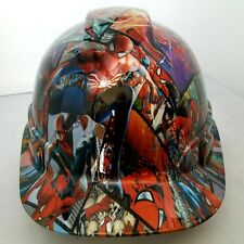 Hard Hat custom hydro dipped , OSHA approved , spiderman comic book style