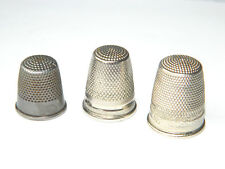 VTG GERMAN THIMBLES LOT of 3 Consecutive Sizes, 5/0 - 4/0 - 3/0 Sewing
