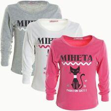Langarm Mädchen-Tops, - T-Shirts & -Blusen mit Motiv aus Baumwollmischung