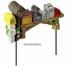 Mailbox Row Pick GO 17620 Miniature Fairy Garden Dollhouse