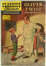 July 1945-Classics Illustrated- Oliver Twist-#23-by Charles Dickens-15 Cents-VG