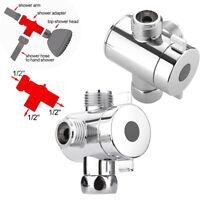 1/2 Inch Three Way T-adapter Valve Diverter Valve For Bidet Shower Head Toilet