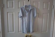 NEW Save Khaki United Extra Large XL Polo Shirt - Light Blue NO BUTTONS