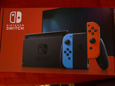 NEW Model Nintendo Switch Joy-Con (L) Neon Blue / (R) Neon Red Game Sold Out!