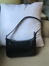 MONSAC Black Leather Small Shoulder
