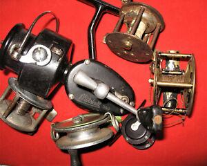 6 moulinets de peche au coup vintage collector