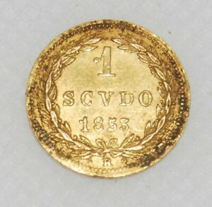 1 Scudo OR 1853 R ITALIE PAPAL STATES coin