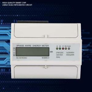 DTM123SC 5-100A Dreiphasen Digital LCD Stromzähler Drehstromzähler geeicht