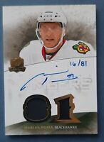 2010-11 The Cup HONORABLE Numbers 16/81 Marian HOSSA AUTOGRAPHED DUAL PATCH !!