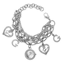 New GUESS Women Crystal Silver-tone Bracelet Watch W13529L1 new with tag and box