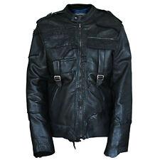 JUNKER DESIGNS $2,689 black deconstructed leather patchwork biker jacket XXL NEW