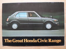 HONDA CIVIC 1200 & 1500 orig 1974-75 UK Mkt Sales Brochure