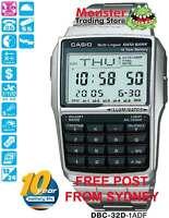 CASIO WATCH CALCULATOR DATABANK DBC-32D-1A DBC32D DBC32 12 MNTH WRANTY