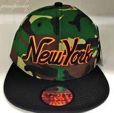 NY camouflage snapback cap, tyga baseball flat peak fitted hats, bling