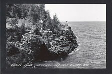 Sturgeon Lake Wisconsin WI circa 1940s RPPC Cabot's Point on Lake, Door County