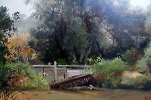 James Flaherty 1836-1904, Mill Race for Inskeeps/Glen Olden Mill, Glenolden PA