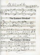 """Music manuscript - Willoughby Hunter Weiss """"the violet and the rose"""" signed."""
