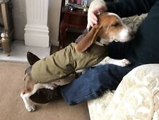 Barbour Dog Coat Olive Green Waxed Cotton Size Medium