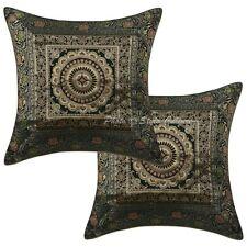 Indian Decor Brocade Elephant Cushion Cover Throw Handmade Pillow Case Cover