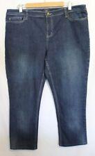 SPORTSCRAFT ~ Mid Blue Wash Denim Stretch Jeans 16 HEMMED/SHORT