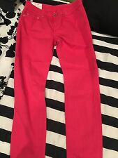 Dondup Made In Italy Jeans Pants Skinny Straight Leg Size 30 Hot Bright Pink