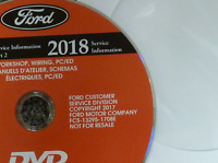 2018 Ford FOCUS ELECTRIC Service Shop Repair Workshop Manual CD NEW